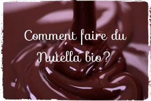 Comment fabriquer du nutella bio?