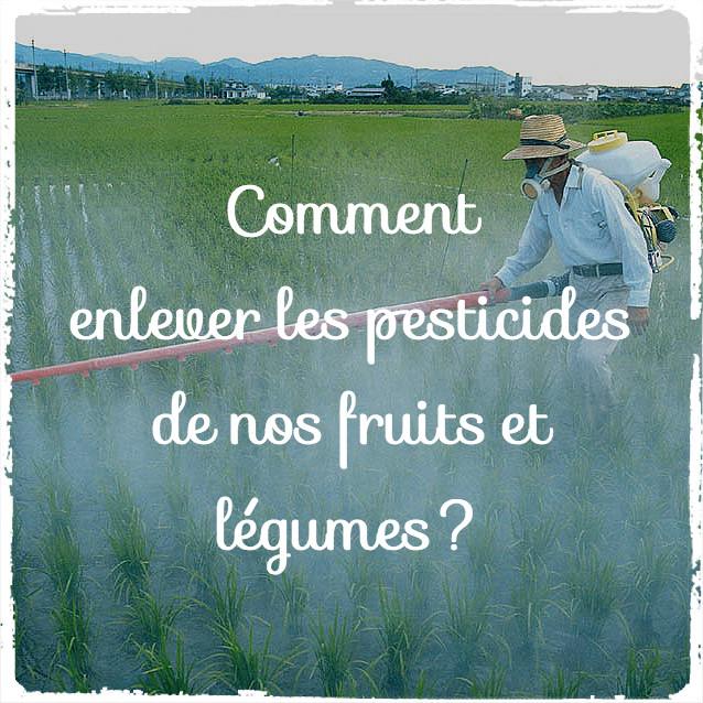 Comment enlever les pesticides de nos fruits et légumes?