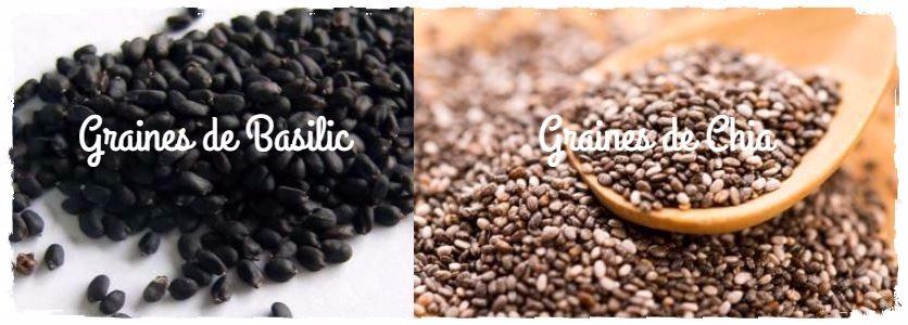 comparaison graine de chia graines de basilic