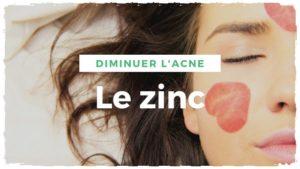 Le zinc pour traiter l'acné